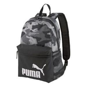 Puma Phase AOP Backpack - Black / Camo NEW