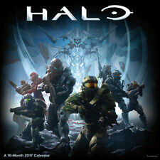 Halo 5 Video Game 16 Month 2017 Fantasy Art Wall Calendar, NEW SEALED