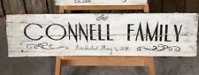 LARGE FAMILY - Recycled Timber Rustic Vintage Sign