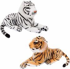 BRUBAKER Lot de 2 Tigre 25 cm allongé animal en peluche jouet doux brun et blanc