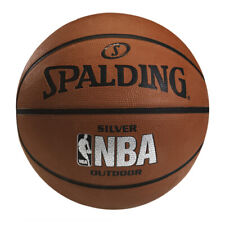 SPALDING NBA SILVER BASKETBALL INDOOR / OUTDOOR SPORTS TRAINING BALL SIZE 7