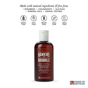 Hawkins & Brimble Beard Shampoo for Men 250ml -Softens Strengthens and Maintains