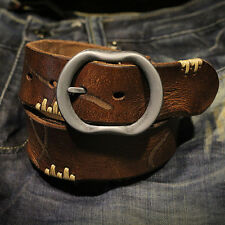 2015 Fashion vintage Men Leather Belt Casual Smooth Pin Buckle Waist Strap HW07