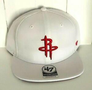 Houston Rockets Hat '47 Captain Snapback Cap White USA Flag City Edition New