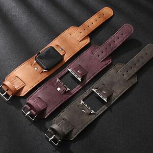 For Samsung Galaxy Watch 3 45mm 46mm Gear S3 Genuine Leather Wrist Band Cuff
