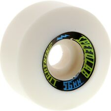 "SPEEDLAB ""Lightning"" Skateboard Wheels 56mm 101a WHITE Old Skool Conical Pool"