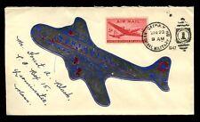 FLIGHT 1947 NORTHWEST AIRLINES AIRCRAFT LABEL DC4 + MILITARY DUPLEX USA