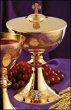 MAGNIFICENT 24K GOLD CIBORIUM   (CHURCH - ALTAR - PRIEST - CHALICE AND PATEN)