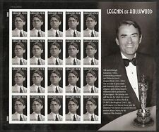 2011 #4526 Gregory Peck 17th Legends of Hollywood Full Pane Sealed in PO wrapper