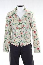 Floral Escada Couture Jeans chaqueta colorida flores Pink talla 38/40 floral np980, Top
