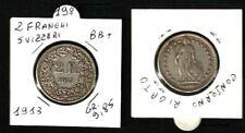 Svizzera, Confederazione: 2 FRANCHI 1913 ARGENTO - GR.9,85 - BB+     N.198