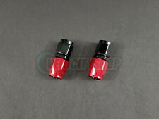 Russell -6 AN Straight Hose End Fittings with Red Socket 2 pcs