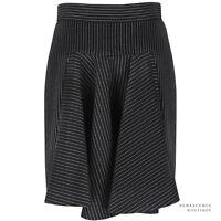 Stella McCartney Elegant Black Pinstriped Godet Pleat Mini Skirt IT42 UK10