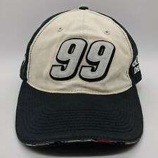 TEAM CALIBER Carl Edwards 99 NASCAR Roush Racing Hat Strapback Cap Black White
