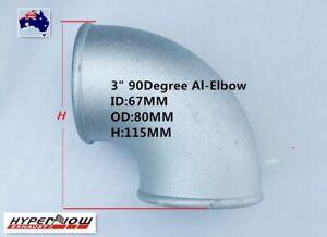"3"" Cast Aluminum Elbow Pipe 90 Degree Intercooler Turbo Tight Bend Turbo AU"