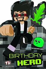 Tube Heroes CAPTAINSPARKLEZ Birthday Hero Birthday Card NEW