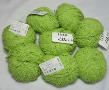 55% Off! 8 x 50g Lang Yarns Elle Spring Summer Textured Cotton Yarn #1937 Lime