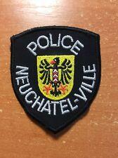 POLICE PATCH SWISS SWITZERLAND - NEUCHATEL CANTON - ORIGINAL!
