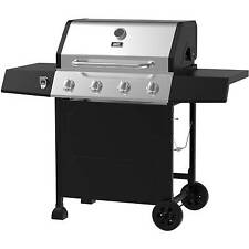 BBQ Gas Grill 4 Burner Steel Barbecue Pit LP Propane Backyard Outdoor Cooking