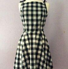 Black & white gingham check vintage inspired Audrey Hepburn dress