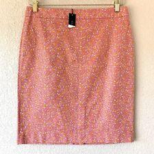 NWT Talbots Skirt Sz 8P Petite Pencil Straight Pink Orange Floral