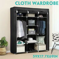 Large Portable Clothes Closet Wardrobe Storage Cabinet Organizer with Shelves L