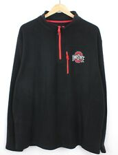Ohio State Mens Half Zip Chest Embroidered Spell Out Logo Fleece Jumper - XL