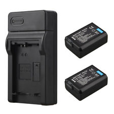 2x 1500mAh NP-FW50 Batteries +Charger For Sony Alpha 7 a7 7R a6000 NEX-5N 5C A55