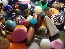GRAB BAG- Kids Beads, Jewelry making,  Assorted sizes & shapes & colors,1/4 lb.