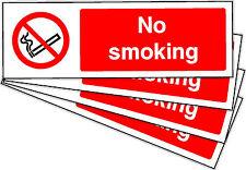 No Smoking Self Adhesivo pegatinas Etiquetas signos X 10