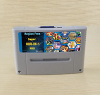 Super 800 in 1 Pro Region Free for Nintendo S/F 16 bit Game Cartridge SNES + 8G