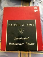 Vintage Bausch & Lomb Illuminated Reader Lighted Magnifier