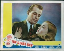 THE GLASS KEY ALAN LADD VERONICA LAKE PORTRAIT 1942 LOBBY CARD