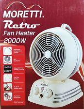 Vintage Retro Style Fan Heater 2000W Oscillating & Thermostat