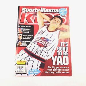 Yao Ming signed Sports Illustrated Magazine PSA/DNA Houston Rockets autographed