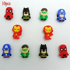 Super Hero Shoe Charms Decoration for CRoc&Jibbitz Wristbands Gift 1059010 10pcs