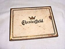 MS636 - VINTAGE / ANTIQUE CHESTERFIELD CIGARETTE TIN, BOX - LIGGETT & MYERS CO.