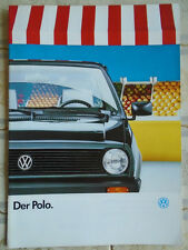 VW Polo range brochure Aug 1988 German text