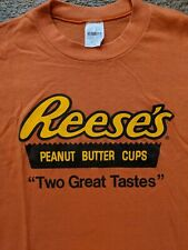 Reese's Vintage T-shirt Two Great Tastes Xl Hershey Tags 70s 80s Nos