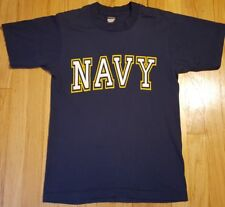 Vintage 90s NAVY shirt S blue Screen Stars 50/50 hipster US military