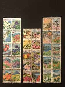 CTO Japan Floral Prefectural Stamps Complete Set Assortment First Day of Issue