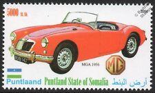 1956 MG MGA Sports Car Automobile Stamp