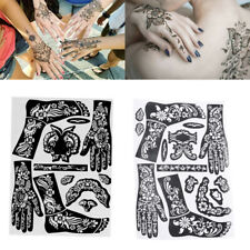 1 Sheet India Henna Temporary Tattoo Stencils Kit for Hand Arm Body Art Decal