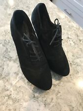 FOREVER 21 BLACK OXFORD HEELED SHOES SIZE 7