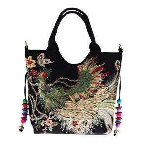 Handmade Peacock Embroidery Ethnic Travel Handbag/Shoulder Bag Women Bags #3