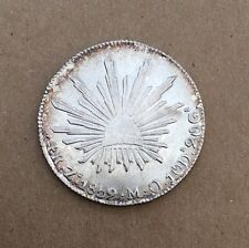 MEXICO  REPUBLIC  ZACATECAS MINT  1859-ZsMO  4 REALES SILVER COIN, XF/AU