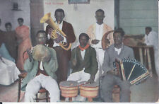 1910s POSTCARD CUBA 5 MAN BAND WITH HOME MADE INSTRUMENTS