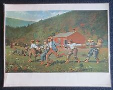 Winslow Homer - Snap The Whip - Original Laminated Art Print