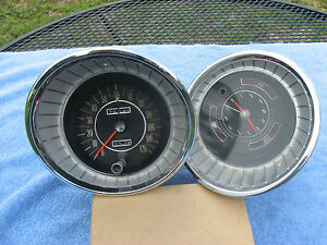 1965 Buick speedometer gauges amp oil temp clock speed alert instrument