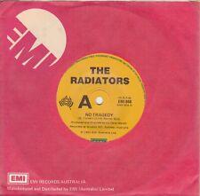 "THE RADIATORS - NO TRAGEDY / ENOUGH'S ENOUGH - AUST. 7"" 45 VINYL RECORD - 1983"